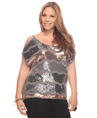 Plus Size Fashion Trend Alert : Sequins - Real Women Have Curves Blog