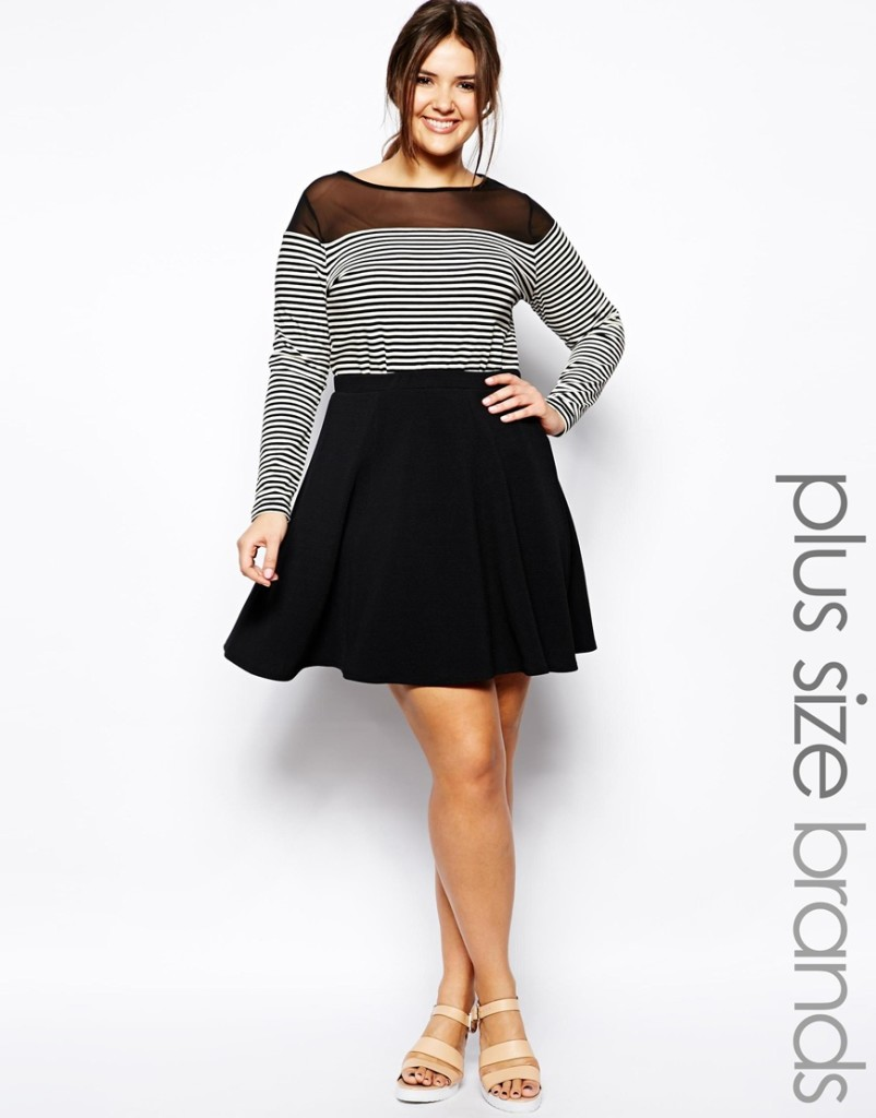 2014 Spring - Summer Plus Size Fashion - Why The Skater Skirt Should Be Your Best Friend 2