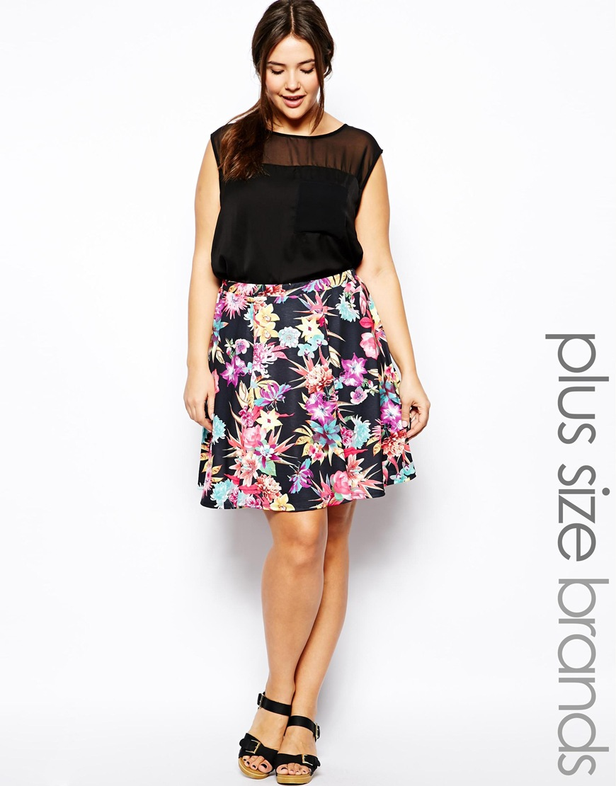 2014 Spring - Summer Plus Size Fashion - Why The Skater Skirt Should Be Your Best Friend