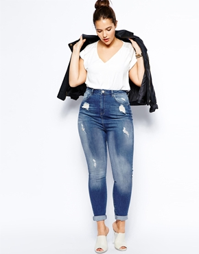 How To Wear High Wasited Jeans - Guide For Plus Size Shapes