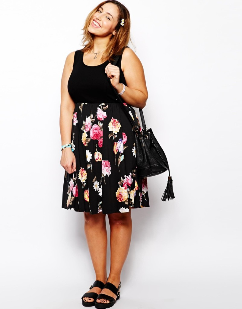 Plus Size Fashion - How To Wear Floral Prints With A Curvy Shape 8