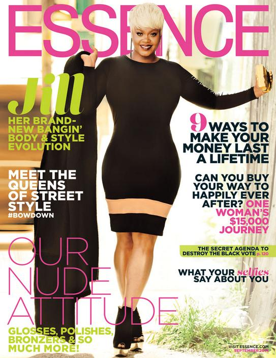 Celebrities With Curves - Jill Scott for Essence Magazine September 2014